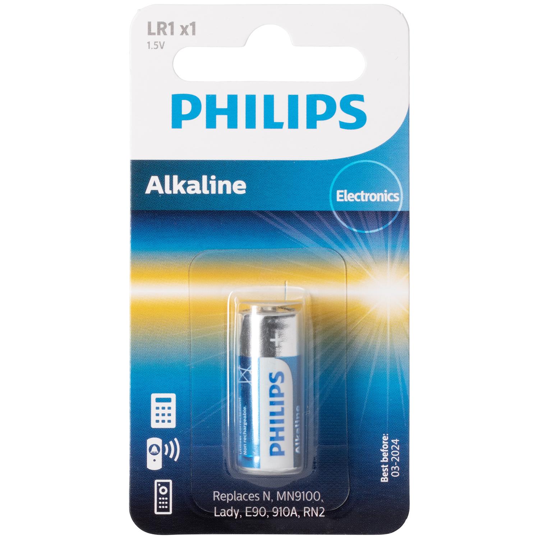 Philips Alkaline LR1 1.5V Batteri thumbnail