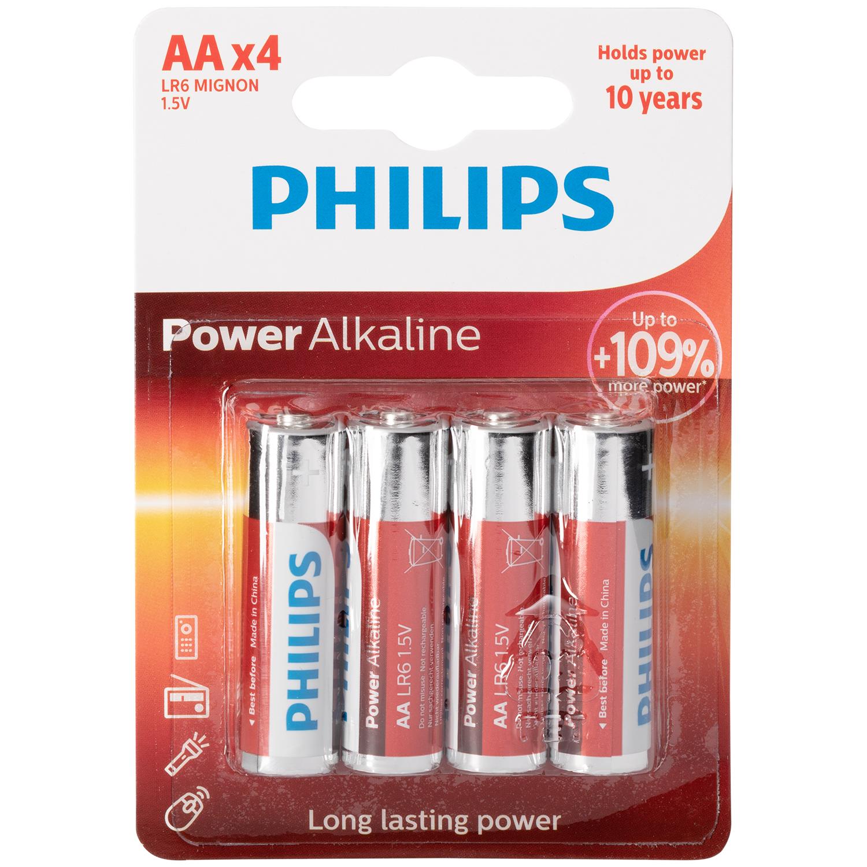 Philips LR06 AA Alkaline Batterier 4 stk thumbnail