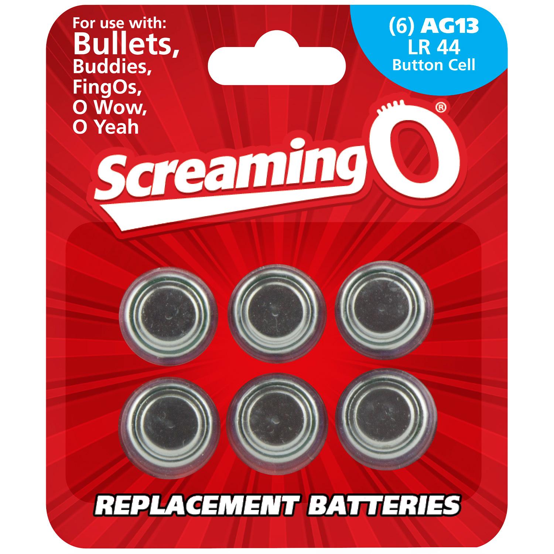 Screaming O Batterier AG13 LR44 6 stk thumbnail