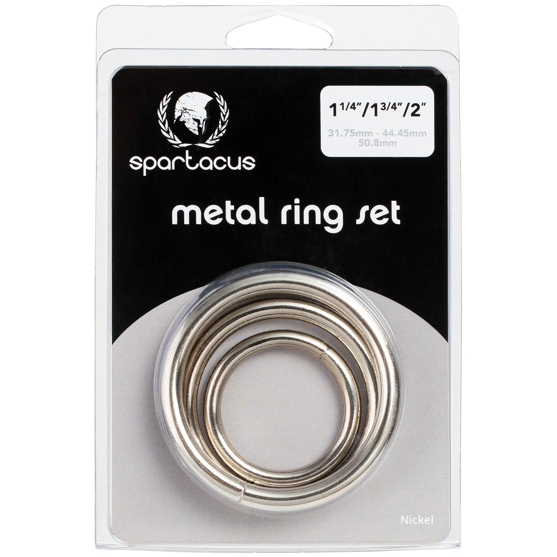 Spartacus Metal Penisringe 3 stk