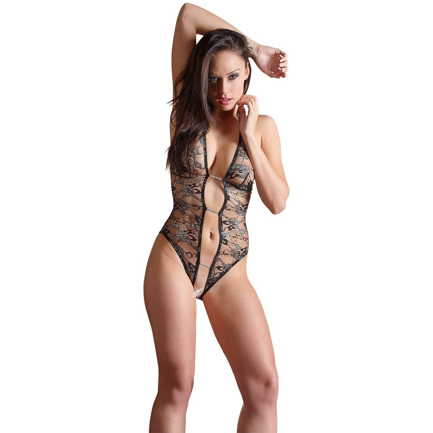 Abierta Fina Blonde Bodystocking