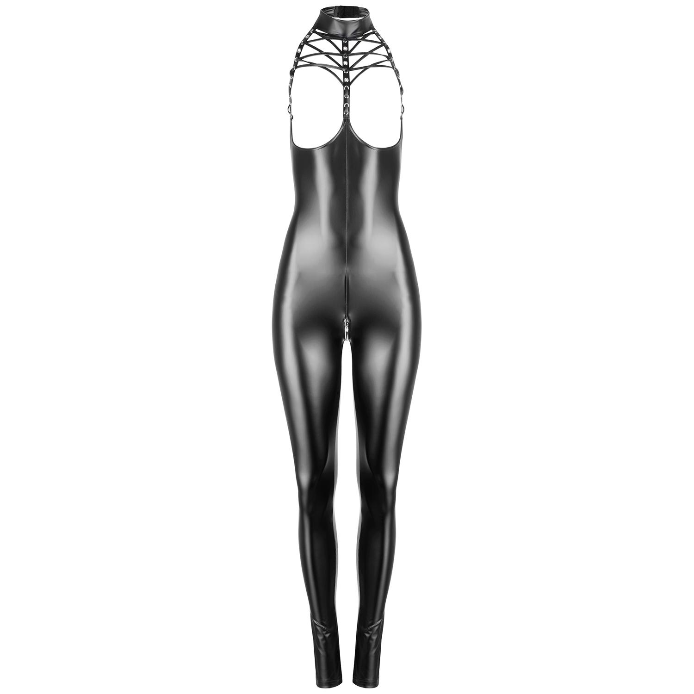 Noir Handmade Wetlook Swagger Jumpsuit
