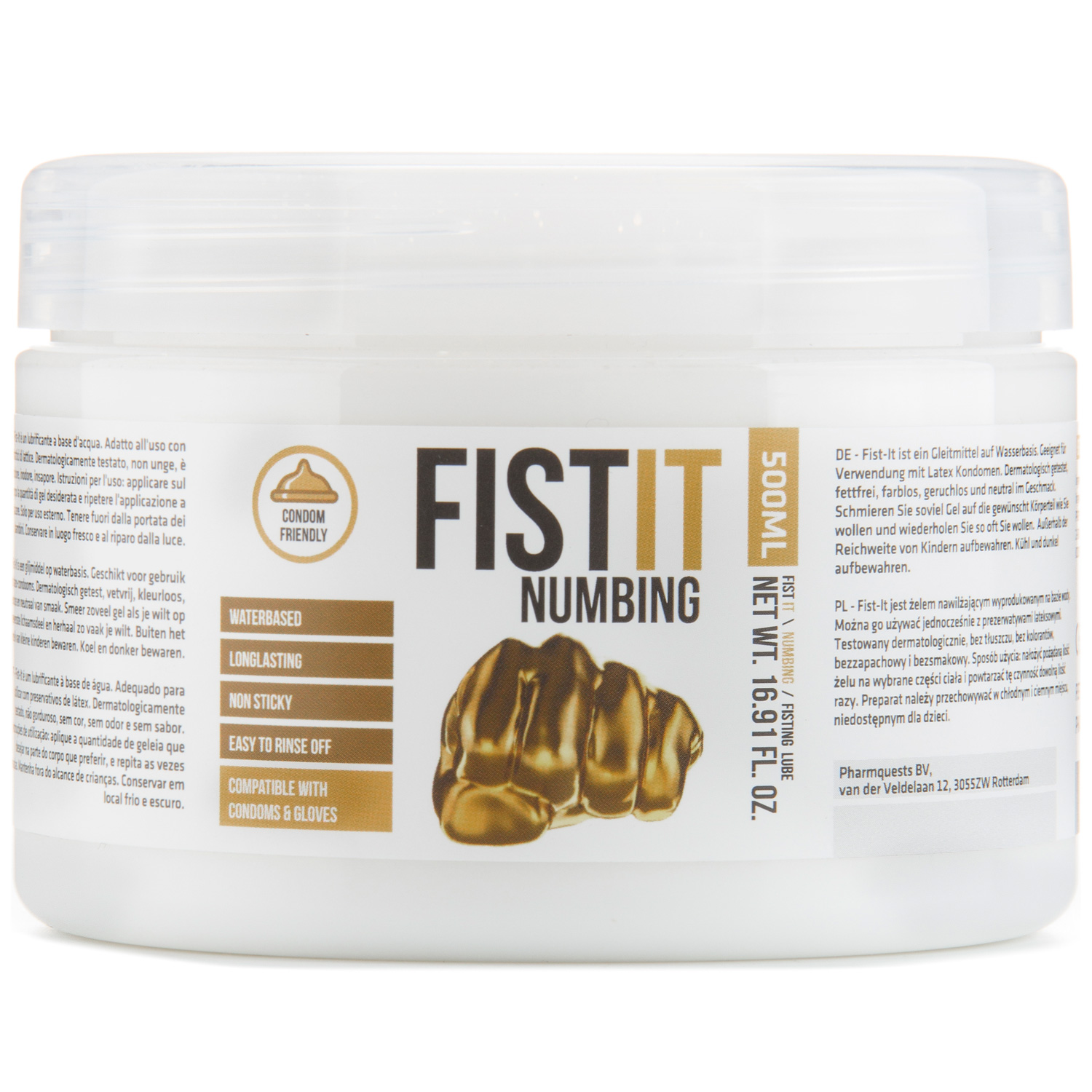 Fist It Numbing Bedøvende Glidecreme 500 ml