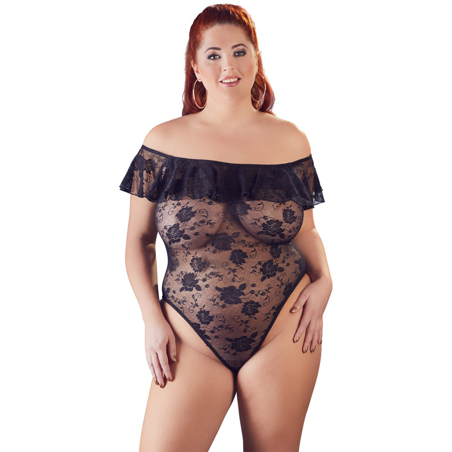 Cottelli Carmen Bodystocking Plus Size