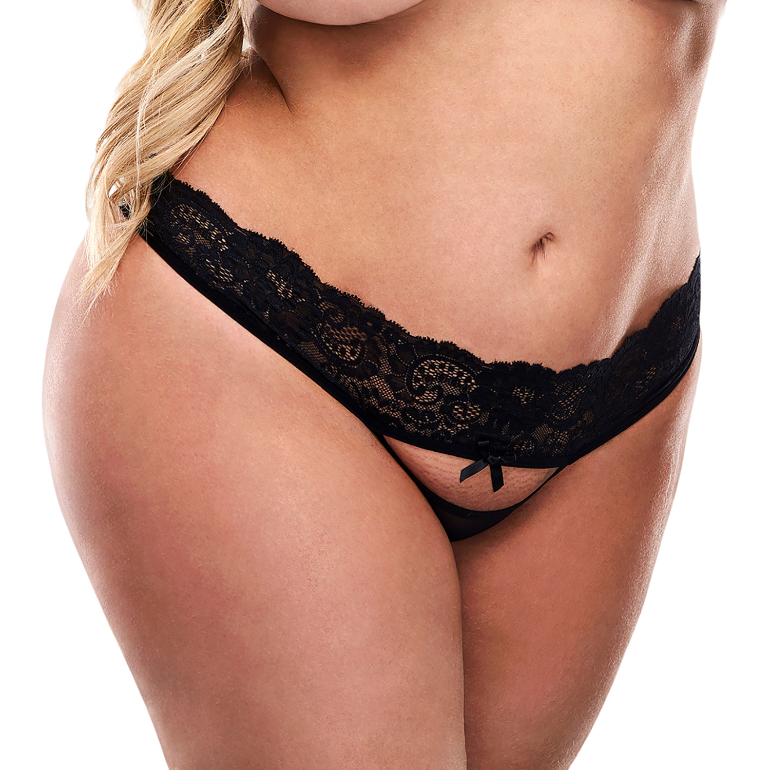 Baci Open Back Blonde Trusse Plus Size