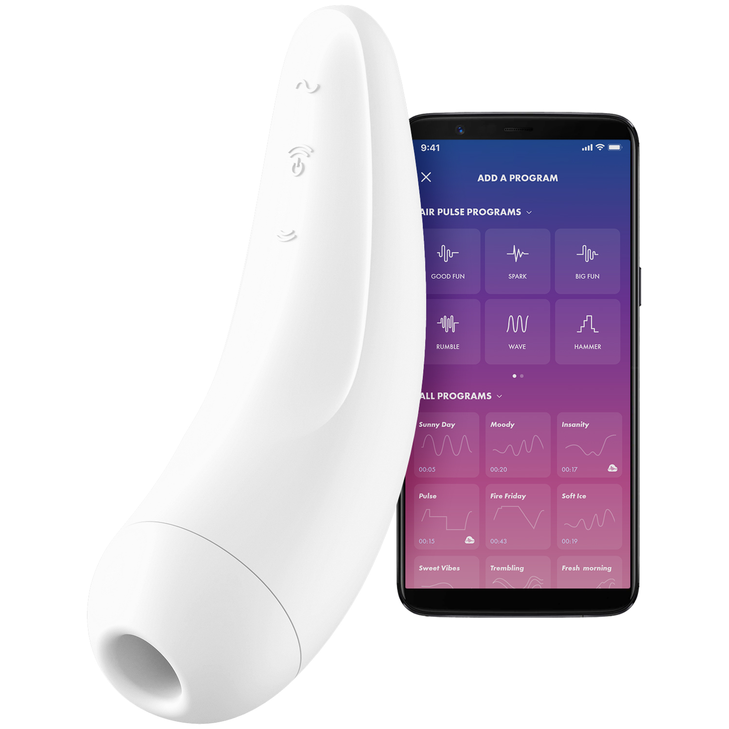 Satisfyer Curvy 2+ App-Styret Klitoris Stimulator
