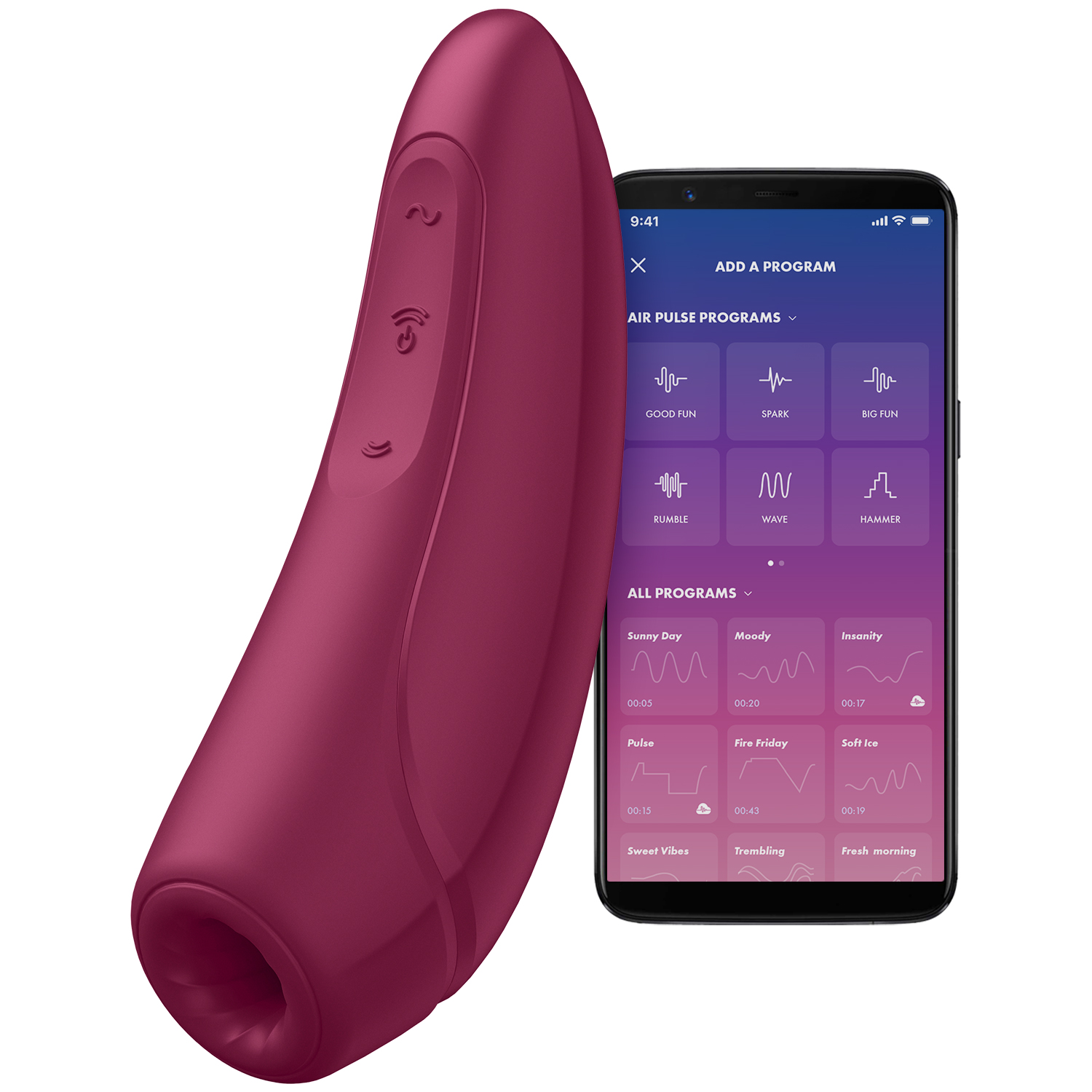 Satisfyer Curvy 1+ App-Styret Klitoris Stimulator