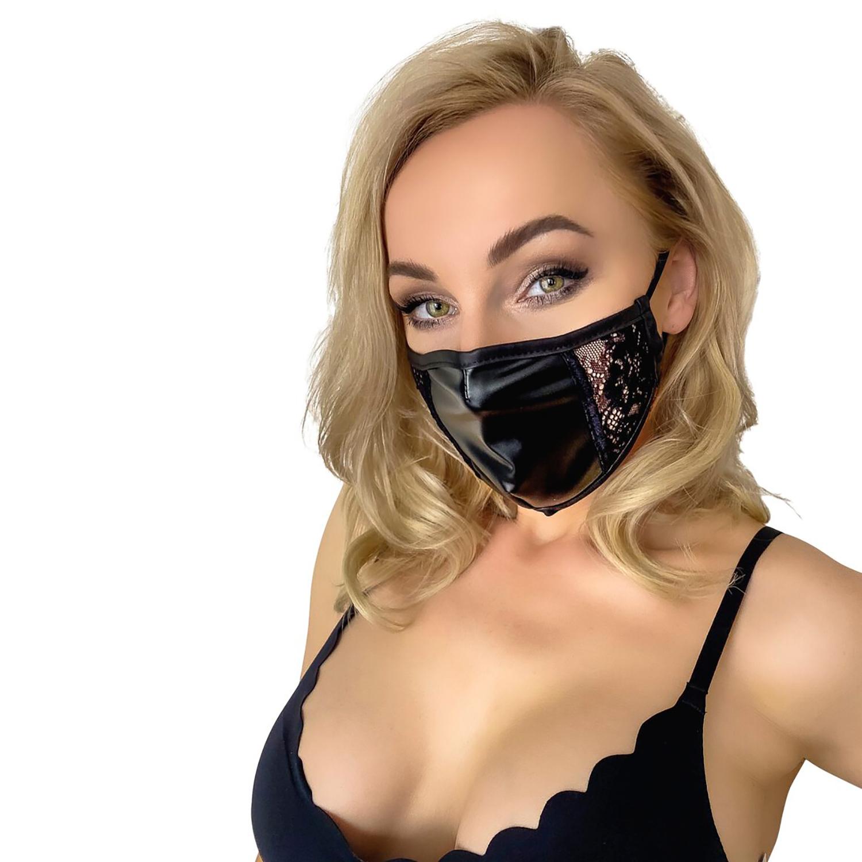 Noir Handmade Maske med Blonder
