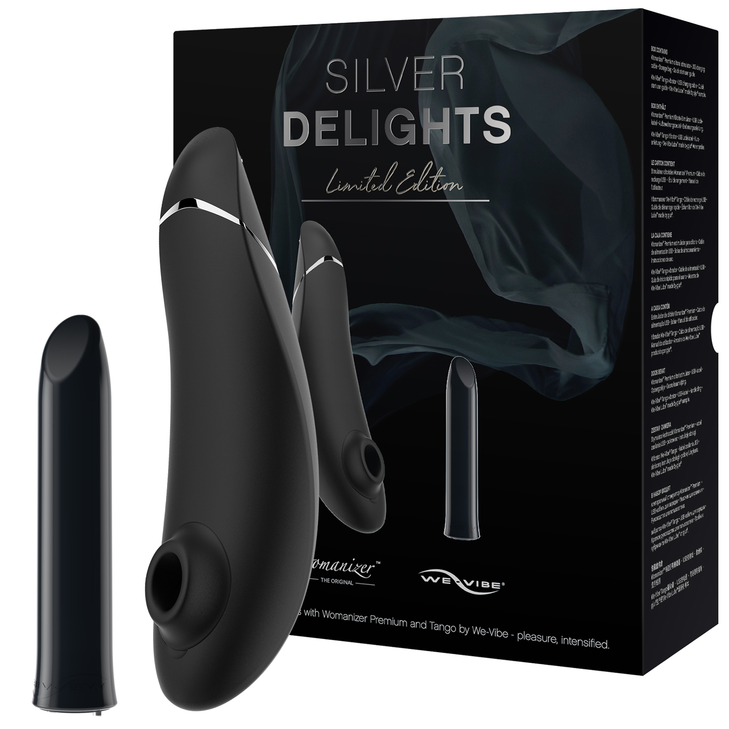 Womanizer og We-Vibe Silver Delights Collection Sæt thumbnail