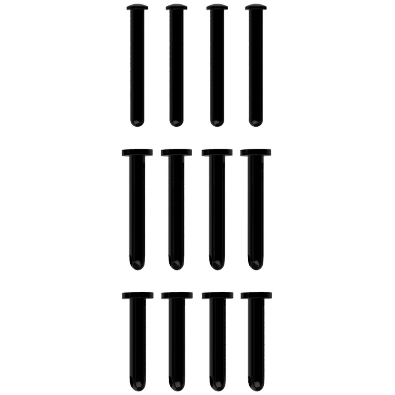 Mancage Sort Låsepinde Sæt 12 stk