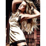 Baci Minikjole Satin/Blonde Guldfarvet