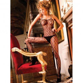 Baci Catsuit Blonde Bodystocking Bundløs Sort