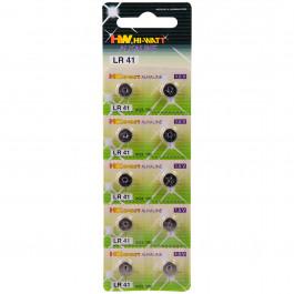 Hi-Watt Alkaline Batterier AG3 - LR41 10 stk