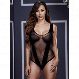 Baci Fishnet Jacquard Teddy