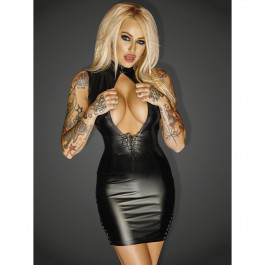 Noir Handmade Wetlook Cut Out Mini Kjole
