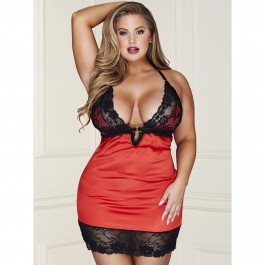 Baci Blonde Chemise og G-Strengs Sæt Plus Size