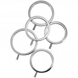 ElectraStim Solid Metal Penisringe 5 stk