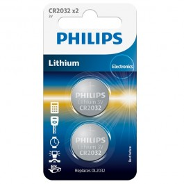 Philips CR2032 Alkaline Batteri 2 stk