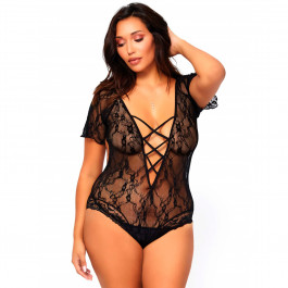 Leg Avenue Blomster Teddy Plus Size