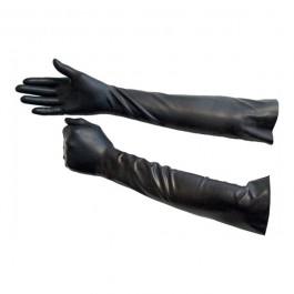 Lange Latex Handsker Sorte