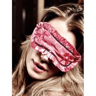 Baci Øjenmaske med Flæsekant Rosa