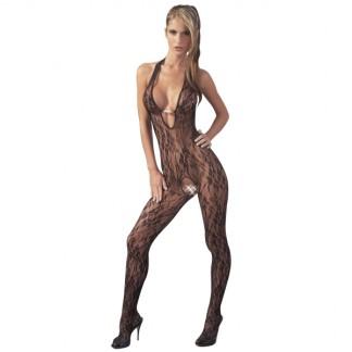 Mandy Mystery Blonde Halterneck Catsuit med Perler