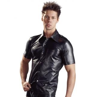 Svenjoyment Imiteret Læder Skjorte