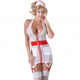 Cottelli Sygeplejerske Uniform med Strømpeholder