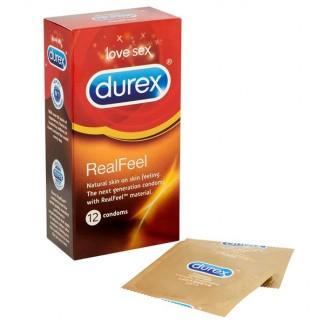 Durex RealFeel Latexfri Kondomer 12 stk