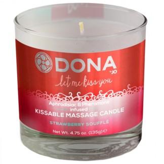 Dona Kissable Massagelys med Smag 135 g