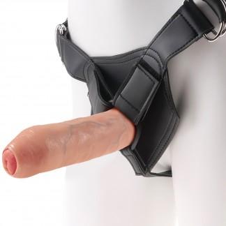 King Cock Harness med Uncut Dildo 21 cm