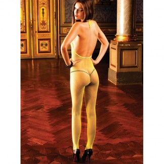 Baci Catsuit Bodystocking Net Gul