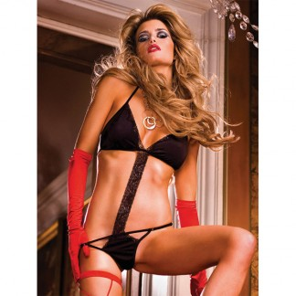 Baci Teddy/Bodystocking Blonde Sort