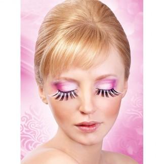 Baci Glamour Sorte-Lyserøde Kunstige Øjenvipper