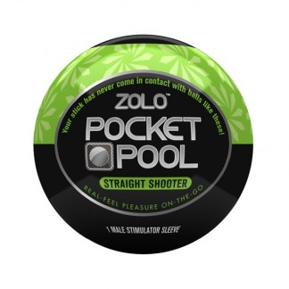 Zolo Pocket Pool Straight Shooter Onani Håndjob