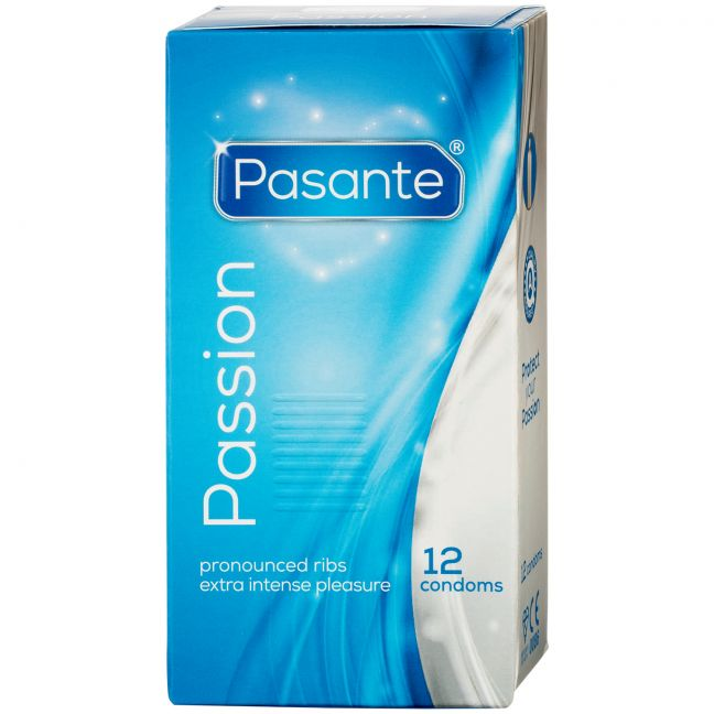 Pasante Passion Ribbed Kondomer 12 stk