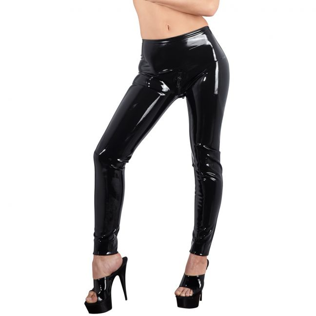 Late X Latex Leggings Sort