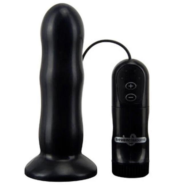 E4 Rib Shaft Butt Plug med Fjernbetjening