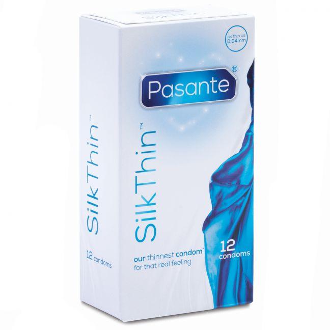 Pasante Silk Thin Kondomer 12 stk