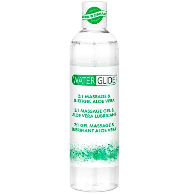 Waterglide Aloe Vera 2-i-1 Massageolie og Glidecreme 300 ml
