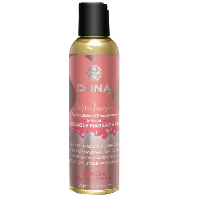 Dona Kissable Massageolie med Smag 110 ml