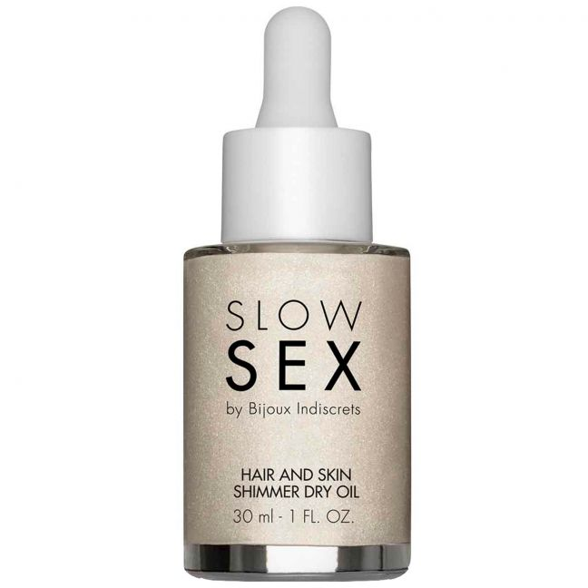 Slow Sex by Bijoux Hair and Skin Olie med Glimmer 30 ml