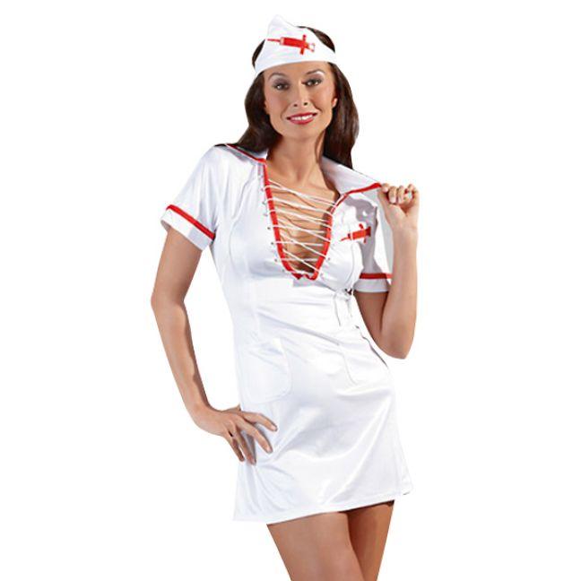 Cottelli Sygeplejerske Kostume med Snørre