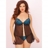 Seven til Midnight High Sweet Affair Babydoll Sæt Plus Size