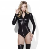 Fever Wetlook Miss Whiplash Zip-Through Bodysuit