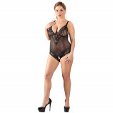 Cottelli Bundløs Blonde Bodystocking Plus Size