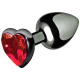 Master Series Crimson Tied Scarlet Heart Anal Plug