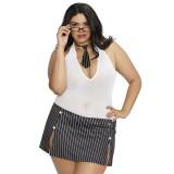 Dreamgirl Sekretær Kostume Plus Size