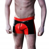 Mister B Saddle Rubber Shorts Rød