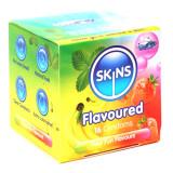 Skins Forskellige Kondomer med Smag 16 stk